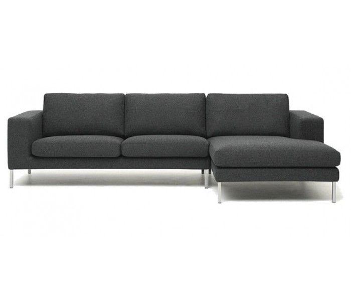 Biki Contemporary Corner Sofa Dark Grey Modern Grey Sofa