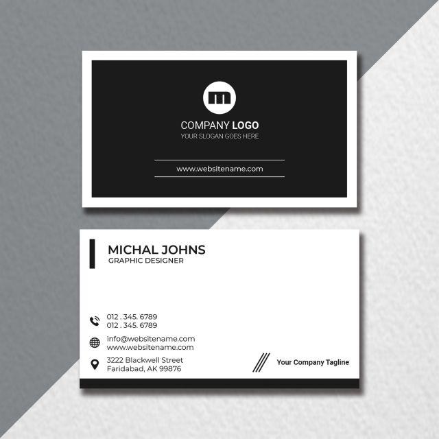 Card Personal Brand Identity Id Design Bank Business Visiting White Business Card Business Card Design Black Minimal Business Card