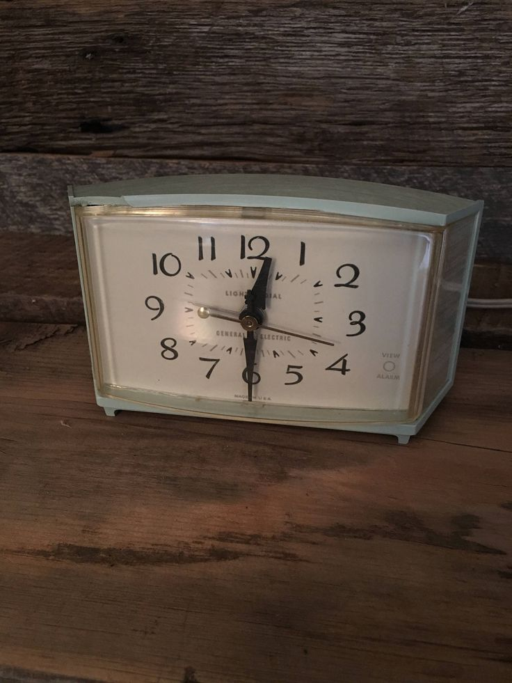 A personal favorite from my Etsy shop https://www.etsy.com/listing/533160399/vintage-alarm-clock-general-electric