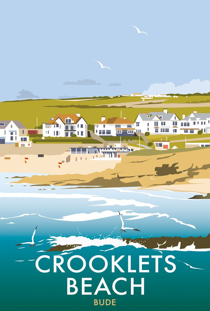 Crooklets Beach (DT92) Coastal Scenes Print by Dave Thompson http://www.thewhistlefish.com/product/p-dt92-crooklets-beach-art-print-by-dave-thompson #bude #crooklets