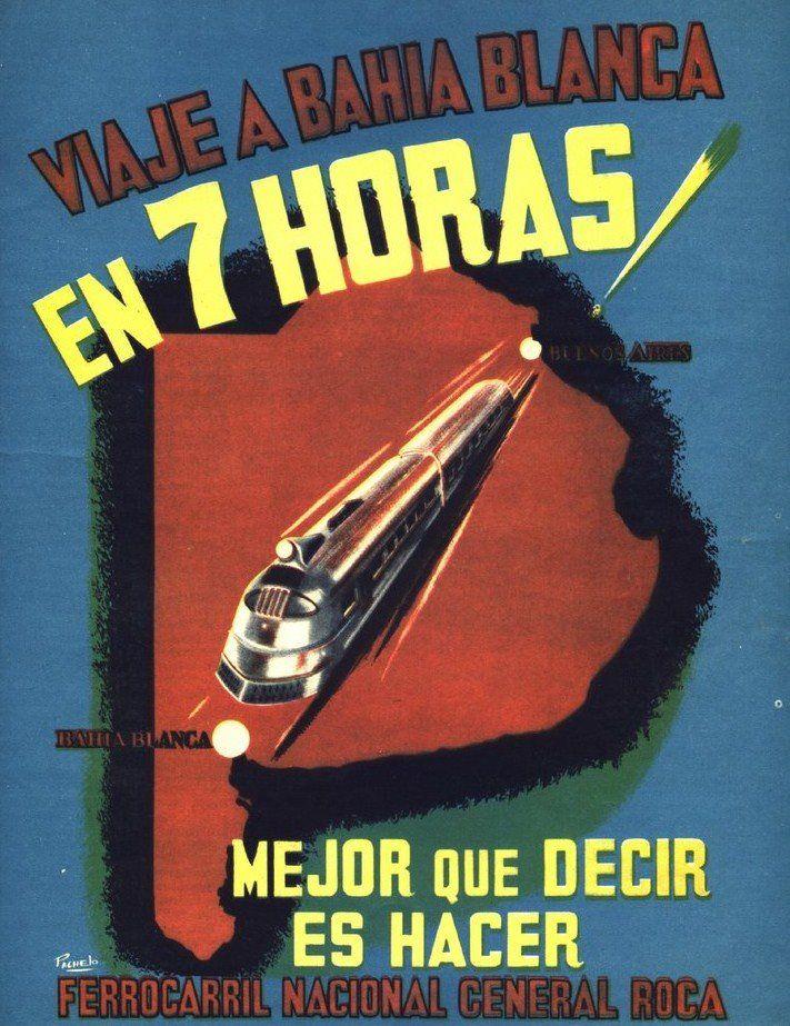 Publicidad institucional de FERROCARRILES ARGENTINOS, 1950.