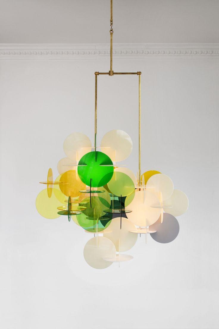 Vibeke Fonnesberg Schmidt's Plexi & Brass Chandeliers