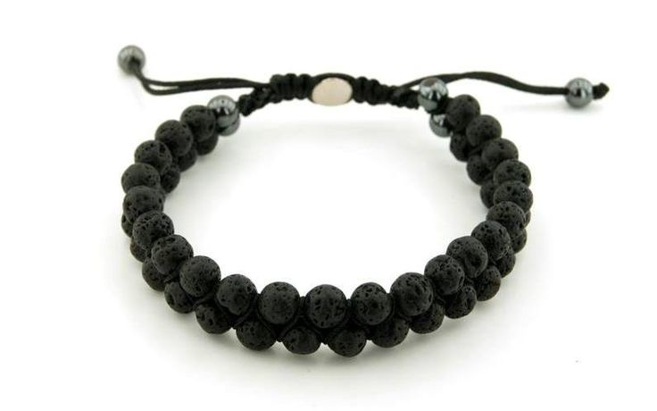 Lava Stone Bracelet-Shamballa Style,https://www.imperastraps.com