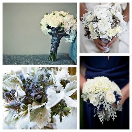Wedding Color Inspiration for Fall & Winter: Midnight Blue and Slate Gray