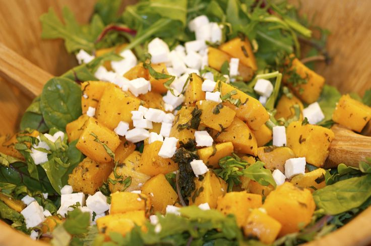 Basil Roasted Butternut squash Salad Recipe @  https://www.facebook.com/photo.php?fbid=655557587865392&set=a.585424158212069.1073741830.585066831581135&type=1&theater