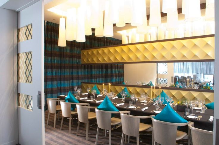 The Private dining room at Rydges Auckland's STK Restaurant.