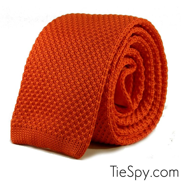 16 New Luxury Mens Plain Orange Woven Tie Necktie Solid Knitted Skinny Solid