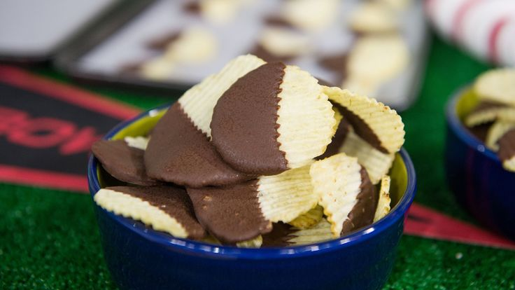 Chocolate-covered potato chips are a quick, easy and cost-effective 2-ingredient treat