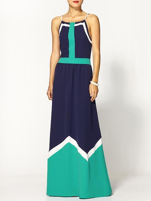 Pim + Larkin Colorblock Maxi Dress