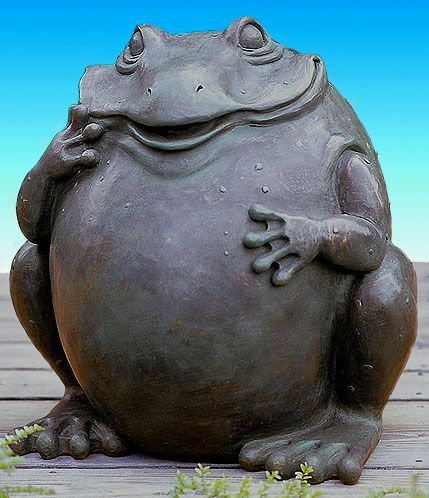 Image detail for -Large Garden Frog - from Austin Sculpture www.sculturegallery.com