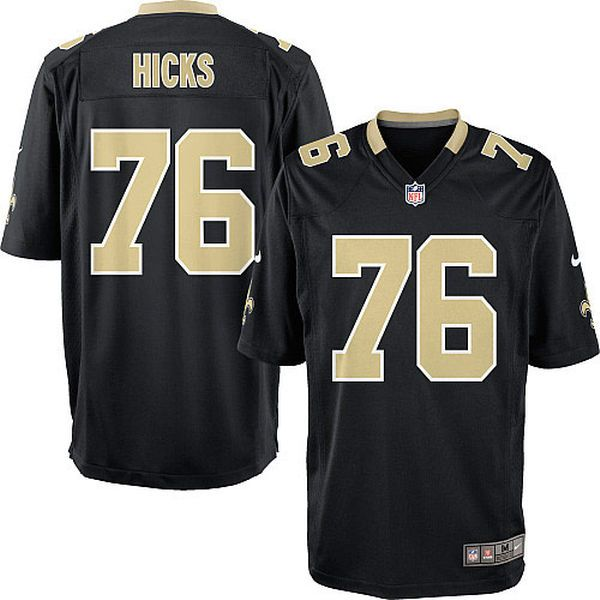 akiem hicks new orleans saints nike youth team color game jersey black color games