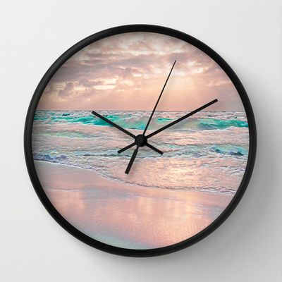 MORNING GLORY Wall Clock by Catspaws - $30.00