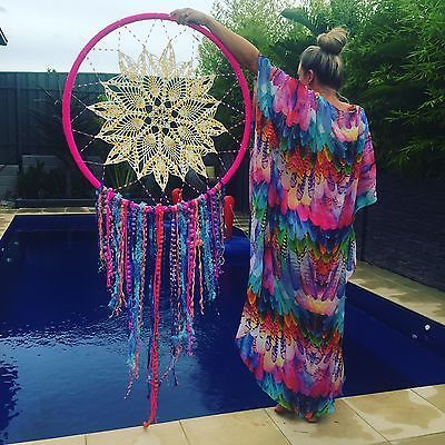 HULA HOOP  rainbow Colour   Spell Dream Catcher Designs  Wedding Dreamcatcher