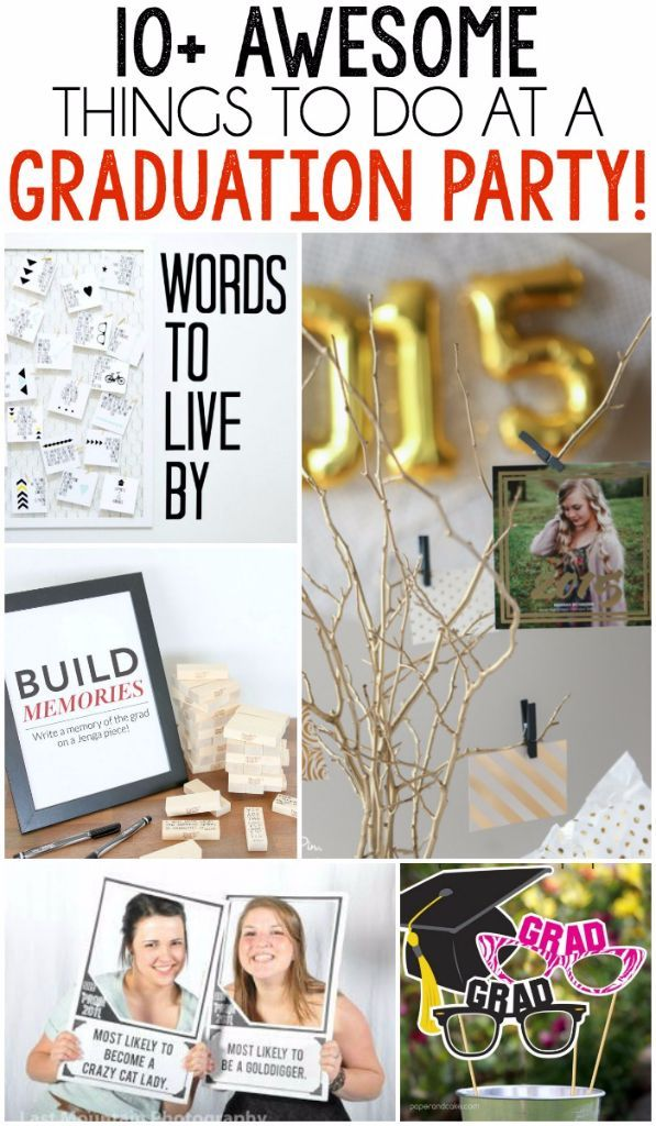 Host a graduation party to remember with these awesome graduation party games and other things to do at a graduation party!