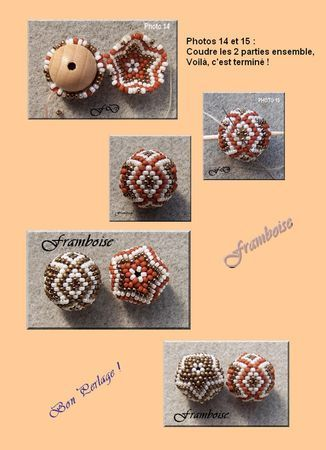 How to make this beaded bead. In French w/good graphics. Translate if you need to. #Seed #Bead #Tutorials