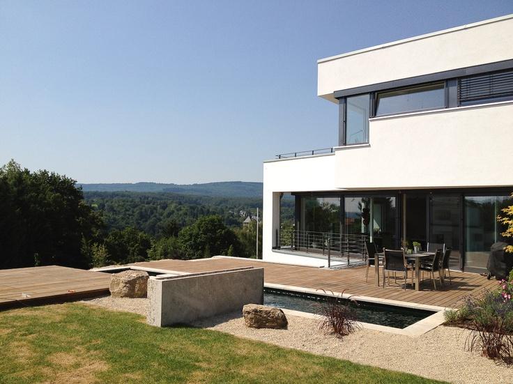 Moderne holzhäuser am hang  25 besten Moderne Häuser Flachdach Bilder auf Pinterest ...