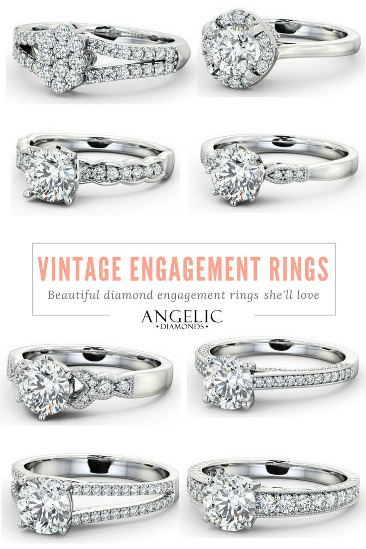 Find your perfect vintage engagement ring from #AngelicDiamonds and customise it to make it truly unique. #Engagement #Wedding #Vintage #Jewelry #Jewellery #Diamond #Diamonds #EngagementRing #EngagementRings #VintageRing #VintageRings #VintageJewellery #VintageJewelry #DiamondRing #DiamondJewellery #DiamondJewelry