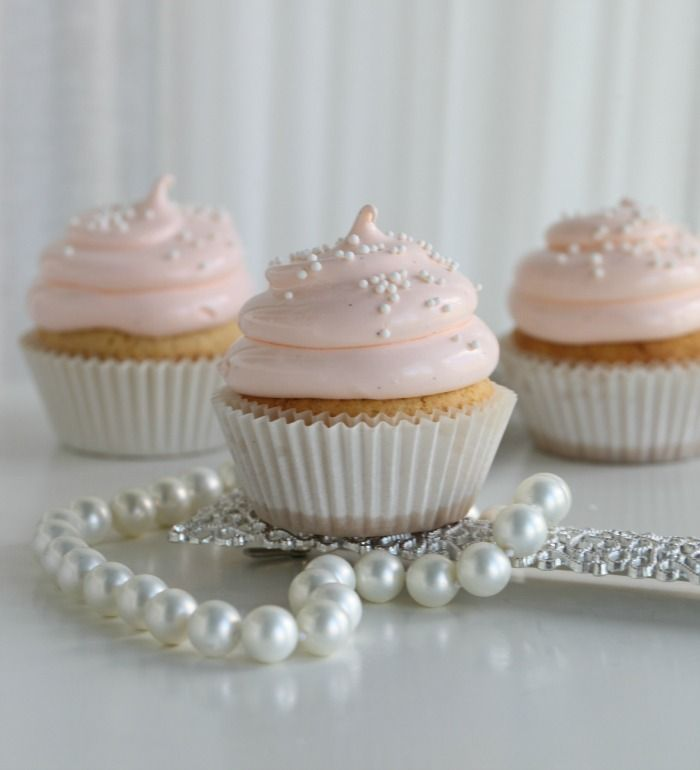 lovely peach colored cupcakes