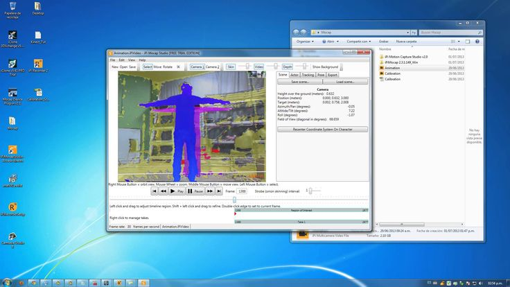 Tutorial Mocap iPi Motion Capture with Dual Kinect and Export Animation ...