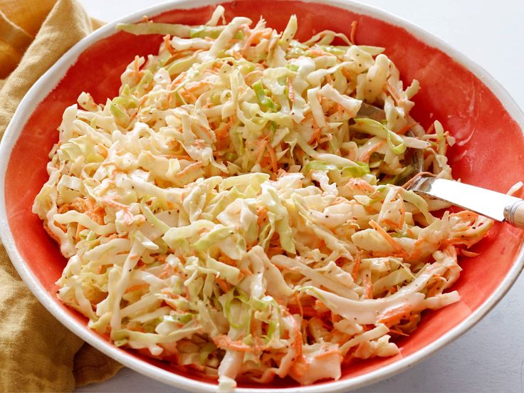 Cole Slaw recipe from Robert Irvine via Food Network - I prefer real celery instead of celery seed and just a hint of pickle juice
