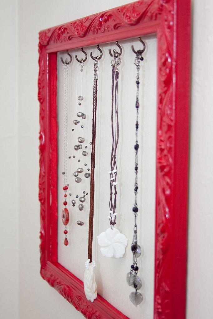 DIY: jewelry display frame.
