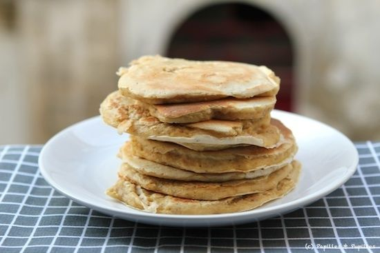 Pancakes aux flocons d avoine, sans caséine en remplaçant le lait par du lait végétal