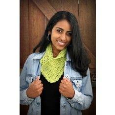 Shell stitch button scarf