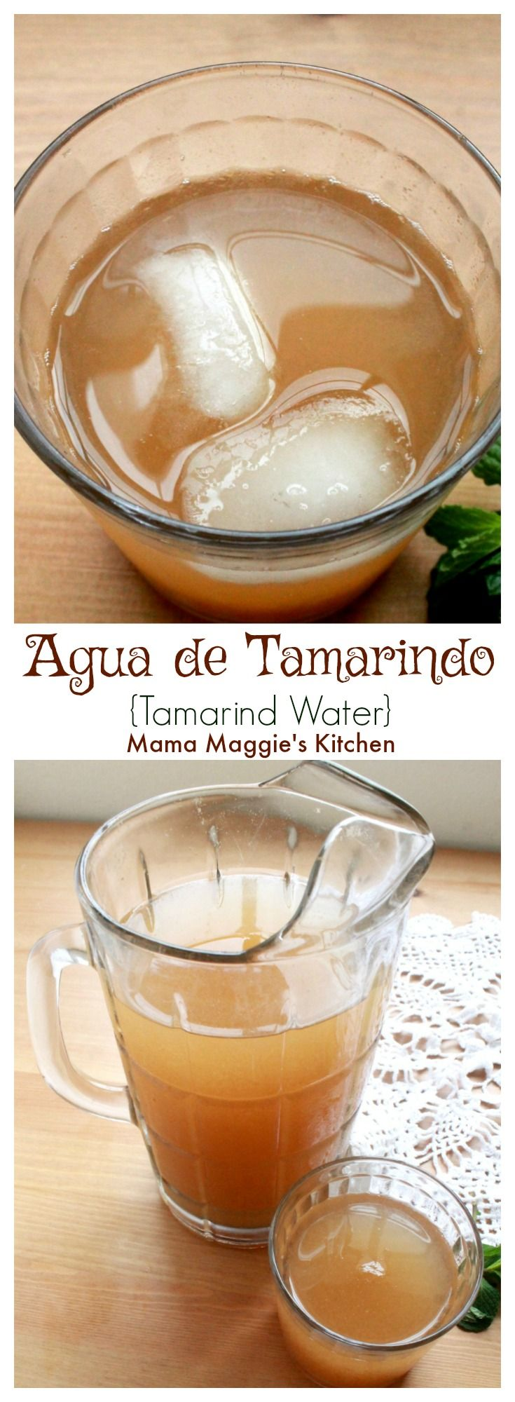 Agua de Tamarindo, or Tamarind Water, is a classic Mexican agua fresca. This refreshing drink is tart and sweet that you are sure to love. By Mama Maggie's Kitchen