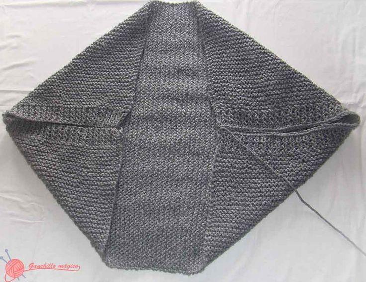 chaqueta kimono (2) de punto