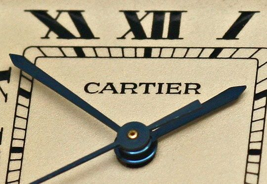 Foto 3, Cartier Panthere Stahl 3 Streifen Gold Herrenuhr Medium, U2133