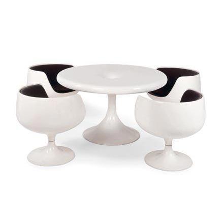 Retro-Futuristic Furniture, Kantarelli suite. Design Eero Aarnio   Year 1965   Manufacturer Asko