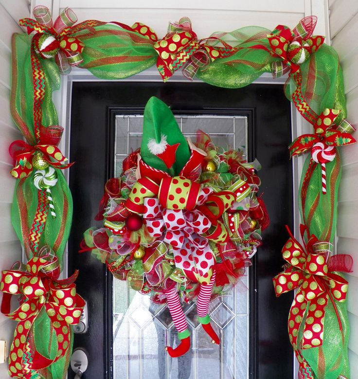 Ready to Ship, Christmas Wreath with Door Garland, Christmas Decoration, Wreath and Garland, Christmas Garland, Holiday Wreaths by OccasionsBoutique on Etsy