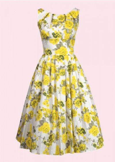 House of foxy 1960er lucy sommerkjole med nlomster