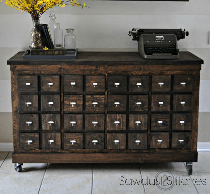 From contemporary Scandinavian to turn of the century, this IKEA shelving unit has been hacked into a rustic dresser.