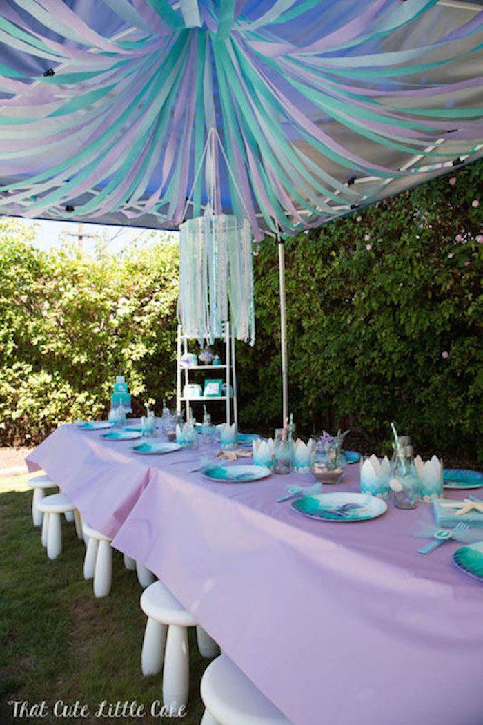 Pastel Mermaid Themed Birthday Party