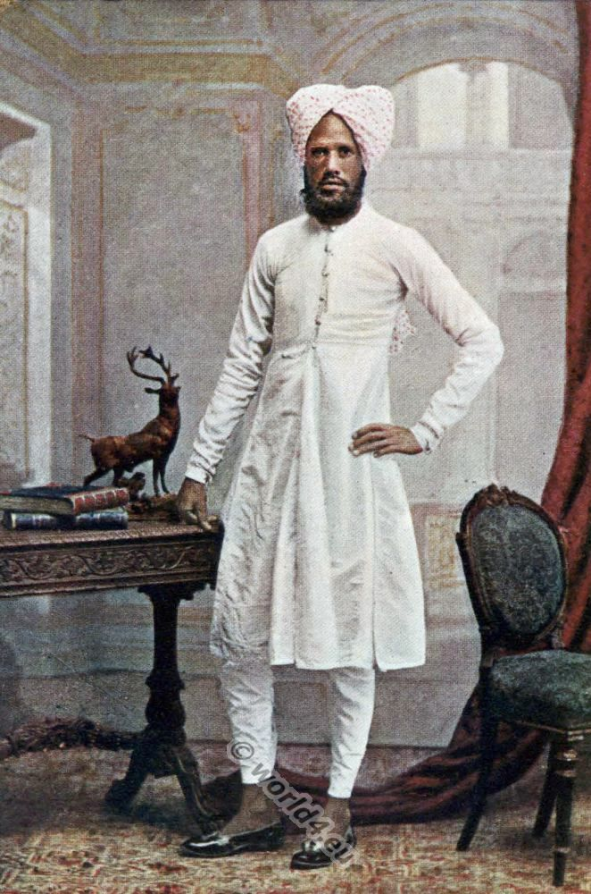 Mohammedan clothing. National costumes of India | The ... Ancient Muslim Clothing For Men