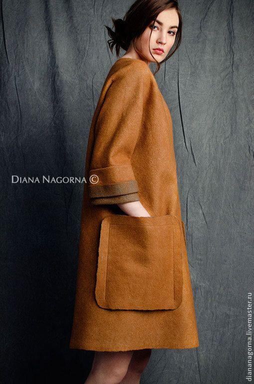 Легкое  пальто из мериносовой шерсти и шелка - Диана Нагорная (diananagorna) - Ярмарка Мастеров