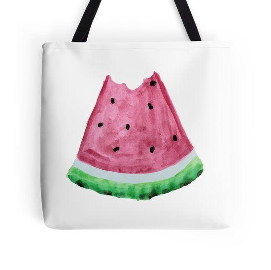 Watermelon slice bite watercolour