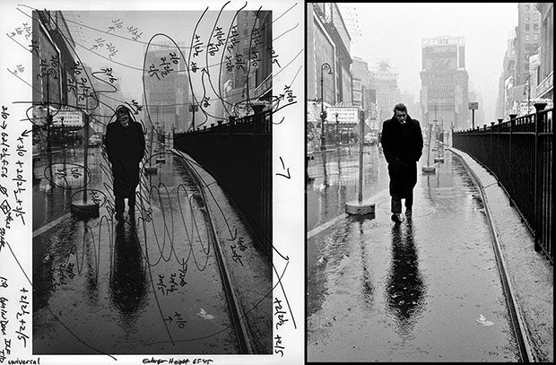 Marked Up Photographs by Pablo Inirio  The lines and circles reveal Inirio's strategies for dodging and burning the image in the darkroom, before Photoshop.