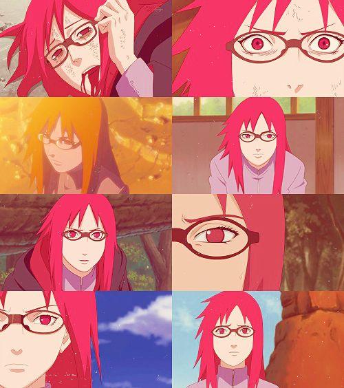 Red   Karin Uzumaki   SasuKarin moments in Karin's pov / point of view   Naruto Shippuden   anime manga cap edit  