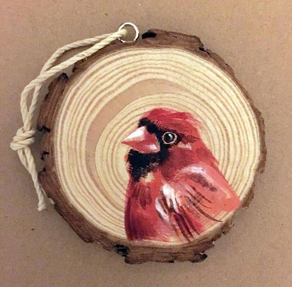 handmade ornament christmas present wood slice ornament