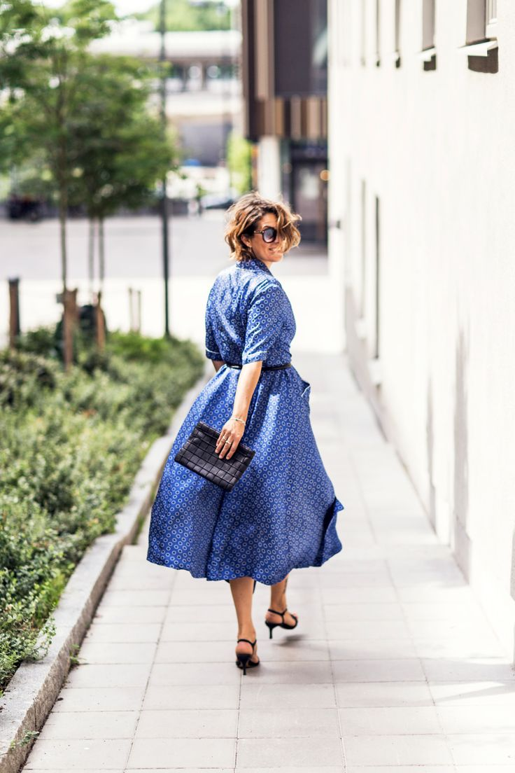 Nina Campioni in vintage dress, perfect summer look. Outfit of the day, go to blog for more inspiration.
