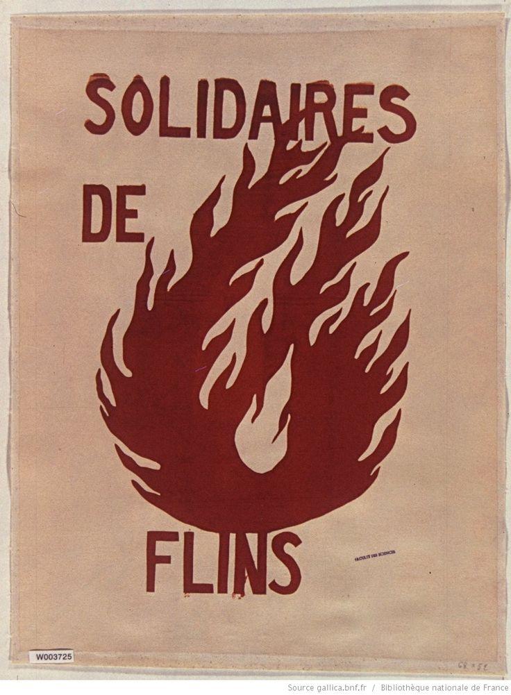[Mai 1968]. Solidaires de Flins, Faculté des sciences : [affiche] / [non identifié]