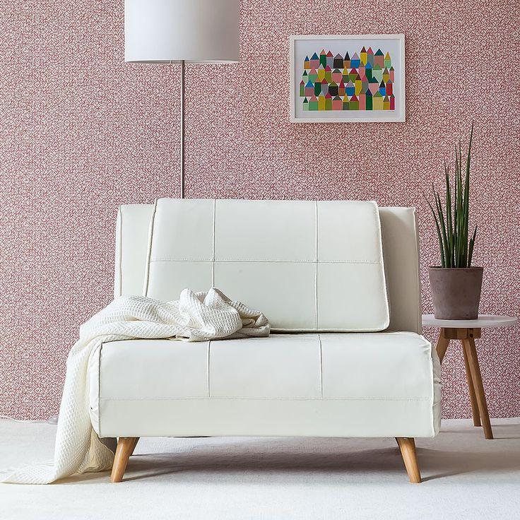 Slaapstoel Rovigo - wit kunstleer