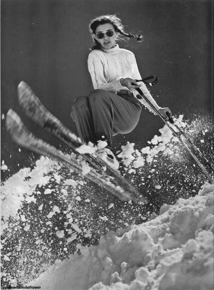 15 year old, Andrea Mead Lawrence during practice for the Winter Olympics, 1947  by George Silk  Andrea Mead Lawrence (1932-2009) did not medal at the 1948 Olympics, but she went on to win gold medals in the slalom and giant slalom at the 1952 Olympics. A peak in Mono County, CA was named in her honor in 2010.