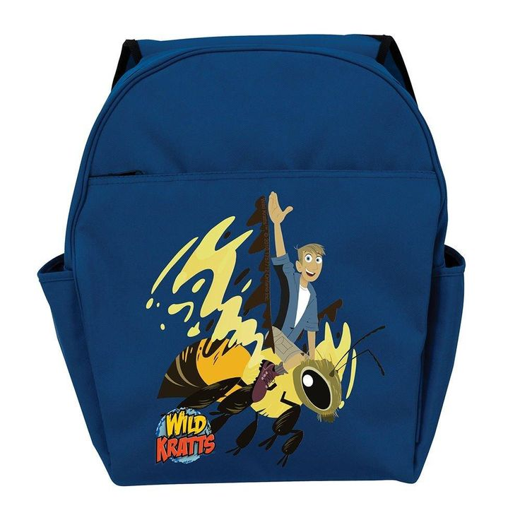 Kids Blue Wild Kratts Backpack Kratts Martins Wasp Yellow Black Honey Bumble Bee Cartoon Tv Show School Bag Stap Back Polyester