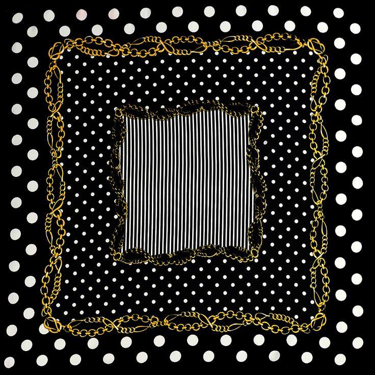 100%シルクスカーフ正方形女性スカーフストライプドットネッカチーフ印刷小さな正方形シルクスカーフ2016スカーフ女性バンダナギフトレディー