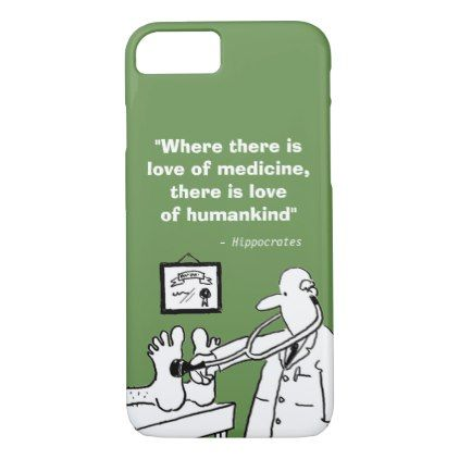 Inspirational Medical Quote and Funny Image iPhone 8/7 Case - funny quotes fun personalize unique quote