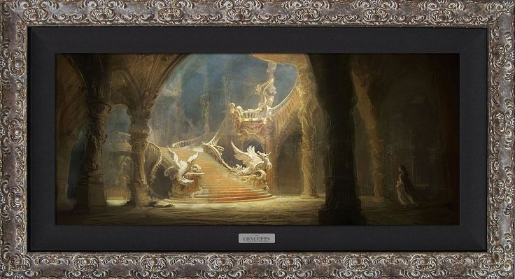 Beauty and the Beast - Morning Light in the Palace - Walt Disney Concepts - World-Wide-Art.com - #disney #disneyconcepts #beautyandthebeast2017