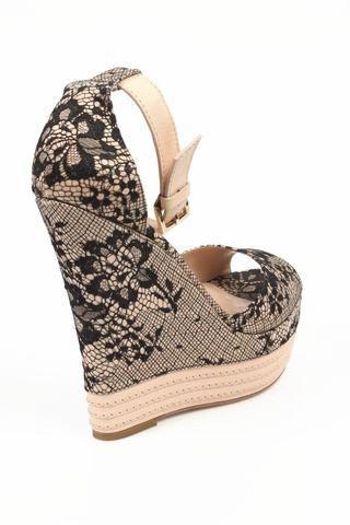 Sebastian Milano ladies espadrille wedge sandal S6109 PIZZO SU RASO PIZZO SU RASO